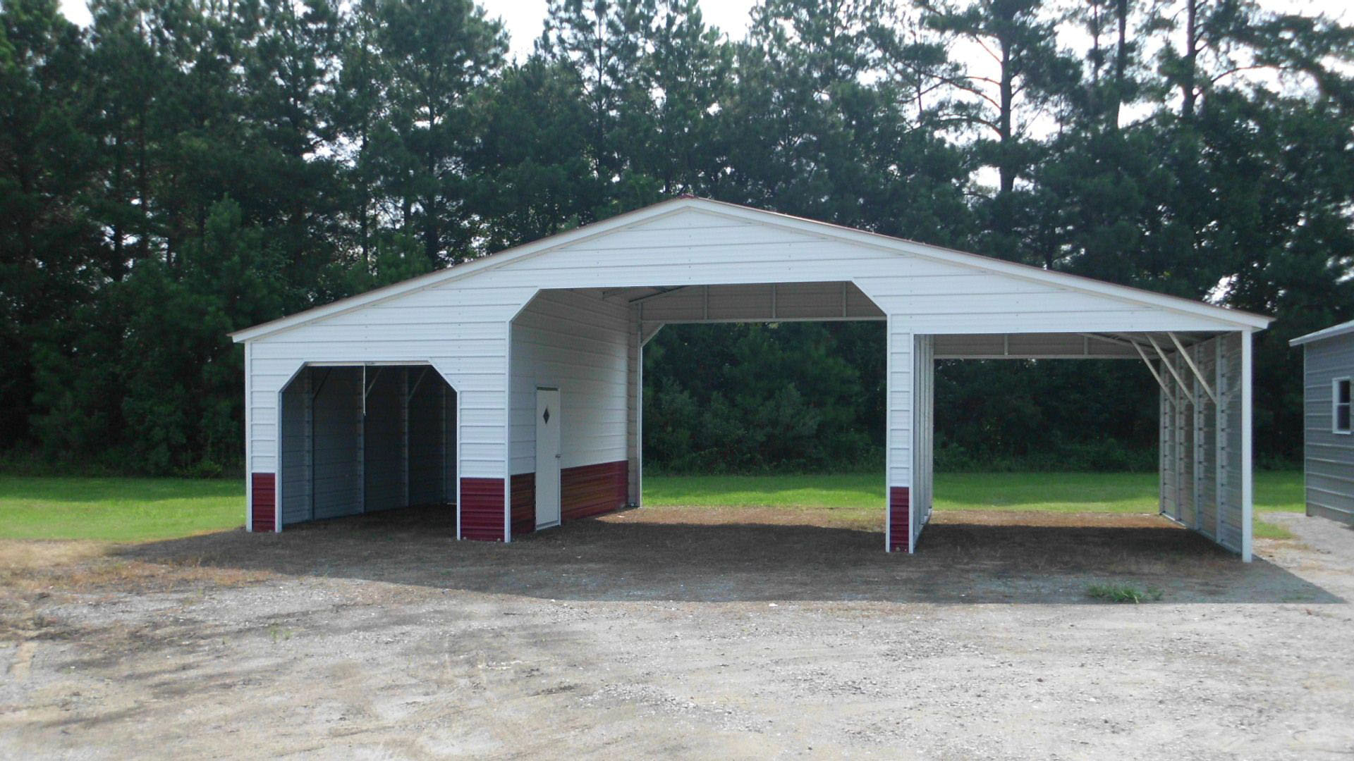 Multi Carport With Garage
